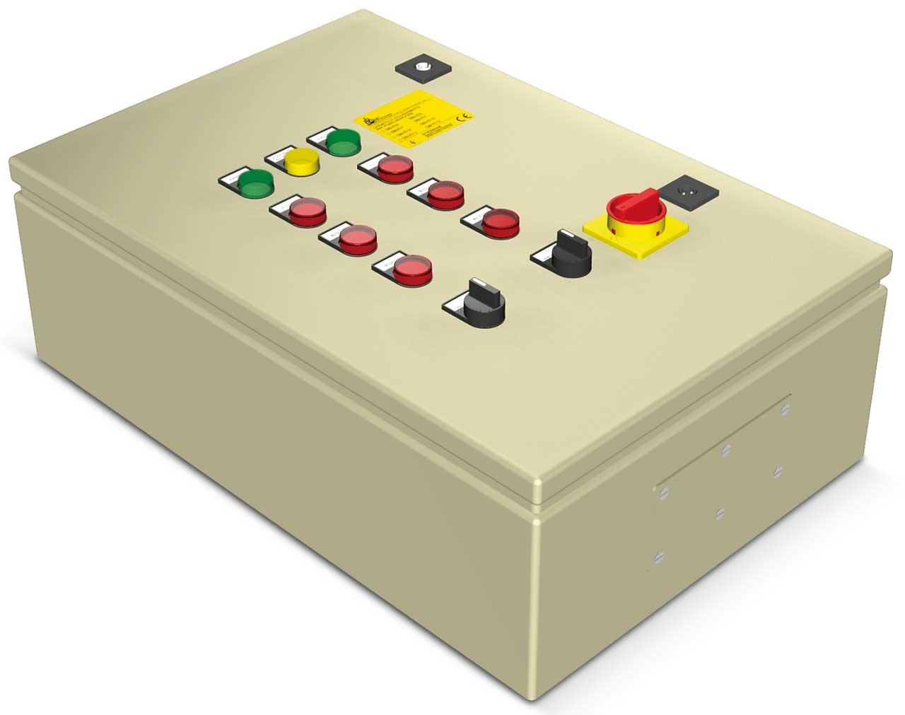 Tablou pornire directa (DOL) AT2S pentru controlul a 2 pompe Semisom /80